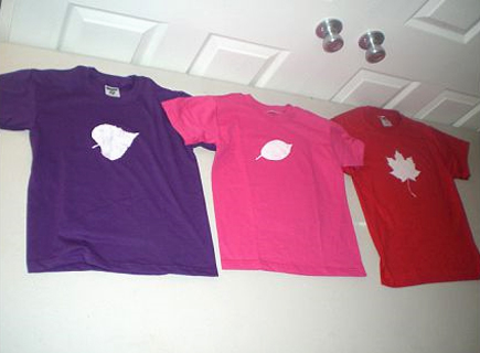 Freezer Paper Leaf Shirts